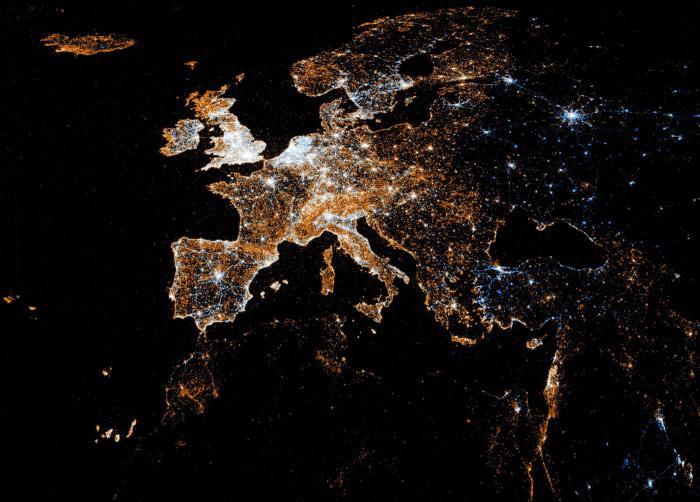 Aufnahme Der Erde Bei Nacht