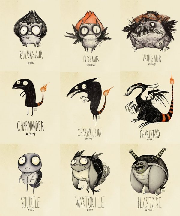 Wenn Tim Burton Pokémon Zeichnen Würde