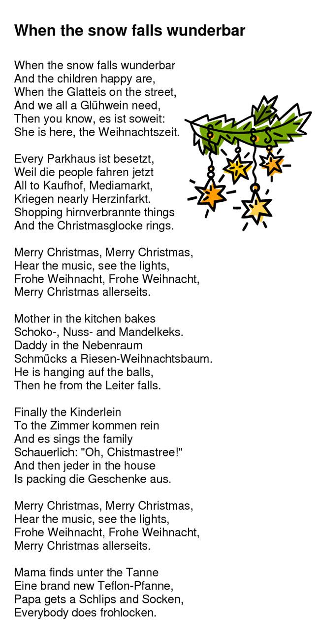 Ein wunderschones weihnachtsgedicht
