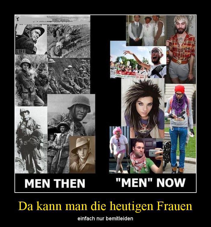 Männer früher vs heute