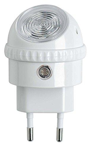OSRAM LUNETTA LED Steckdosenlicht / energieeffizientes Nachtlicht mit drehbarem Leuchtenkopf mit Dämmerungssensor / warmweißes Licht