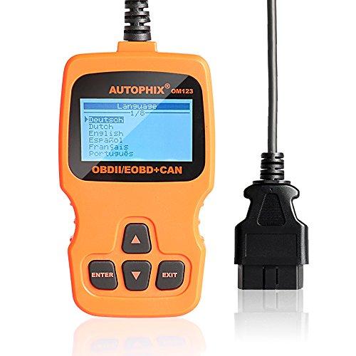 OBD2, AQV OBDII Diagnosegerät OM123 Auto Fehler Diagnosegerät Auto Scanner Diagnosegerät Code Reader Motorkontrollleuchte-Diagnosen Fehlercode Scanner (Orange)