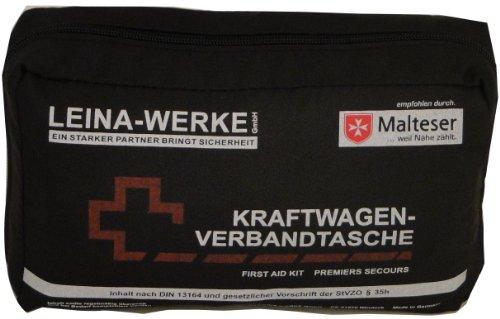 Leina 73602 Verbandtasche DIN 13164 mit Rettungsdecke (sortiert - schwarz / rot)