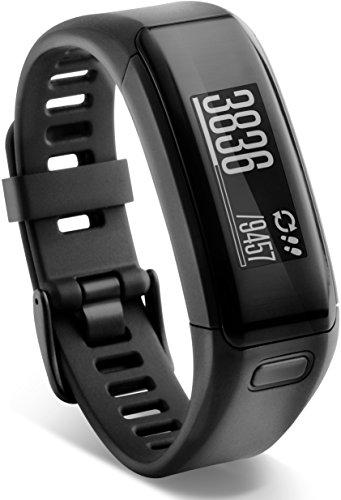 Garmin vívosmart HR Fitness-Tracker - integrierte Herzfrequenzmessung am Handgelenk, Smart Notifications, Schwarz, Gr.Regular