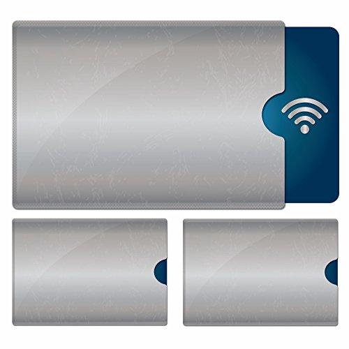 3x RFID Schutzhülle & NFC Schutzhülle für: Personalausweis | Kreditkarte | EC-Karte | Schützt vor Kratzern und schützt deine Daten vor unerlaubtem auslesen per kontaktlosem RFID