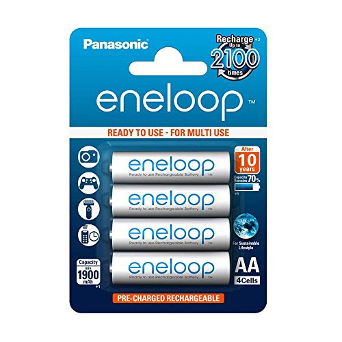 Panasonic eneloop AA Ready-to-Use Mignon NI-MH Akku BK-3MCCE/4BE (1.900 mAh, 4er Pack) -