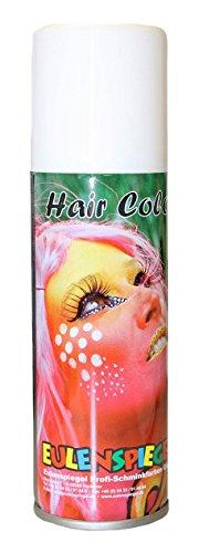 Eulenspiegel Profi-Schminkfarben Color Haarspray, weiß, 1er Pack (1 x 125 ml)