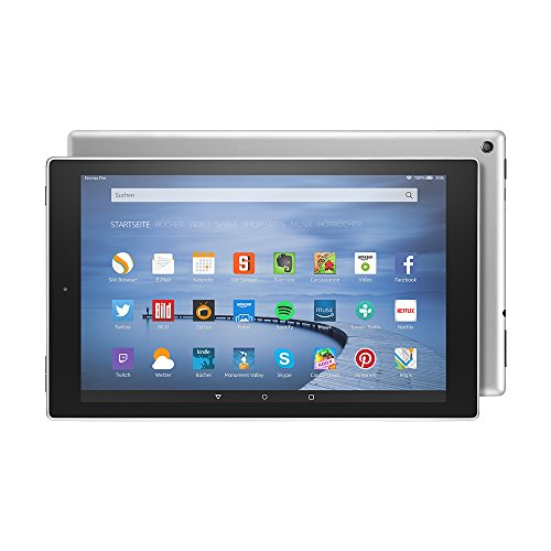 Fire HD 10-Tablet, 25,65 cm (10,1 Zoll) HD Display, WLAN, 64 GB (Silbermetallic) - mit Spezialangeboten