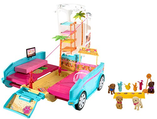 Mattel Barbie DLY33 - Die große Hundesuche Hunde-Mobil