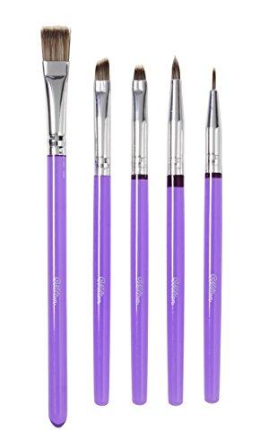 Wilton 1907-1352 Decorating Brush Werkzeug, Kunststoff, violett, 5 Einheiten