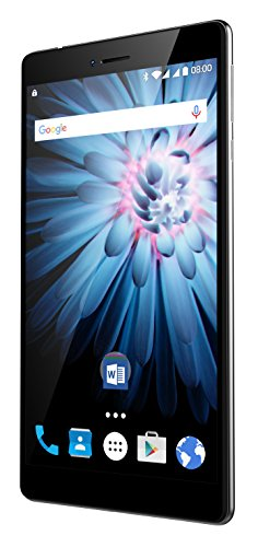 Odys Pluto 7 17,7 cm (6,98 Zoll HD IPS Display) Phablet (1,1 GHz Qualcomm Snapdragon 210 MSM8909 Quad Core, 1GB RAM, 16GB HDD, Qualcomm Adreno 304 GPU, BT 4.1, Android 6) schwarz