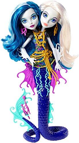 Mattel Monster High DHB47 - Modepuppen, Das Große Schreckensriff, Peri und Pearl Serpentine