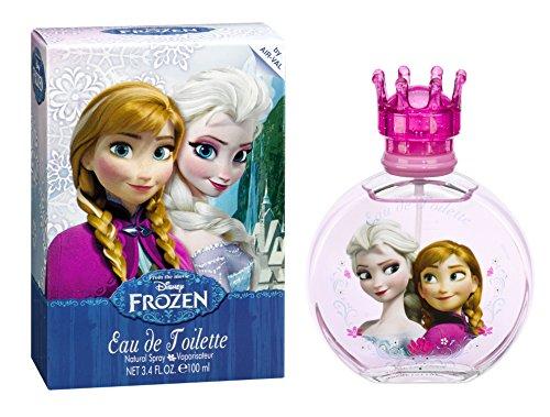 Air-Val Disney Frozen Die Eiskönigin Kinder-Parfüm für Mädchen (Eau de Toilette) 100 ml im Glas-Flakon mit Krönchen-Verschluss (Parfum-Spray mit Vaporisateur)
