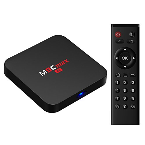Bqeel M9Cmax Android TV Box / Android 6.0.1 / Neuster Amlogic S905X Quad-Core CPU / Mali-450 Penta-Core GPU / 2GB SDRAM + 16GB eMMC (erweiterbar) / KODI (XMBC) 16.1 vorinstalliert / 4K / 2.4GHz WIFI / RJ45 / SPDIF / AV / USB / Micro SD / Streaming Media P