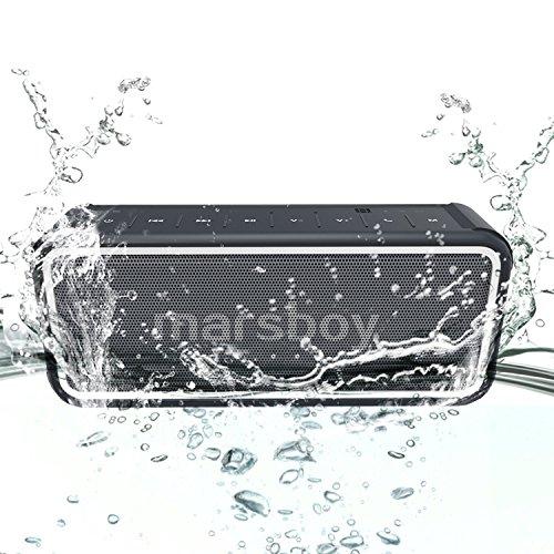 Bluetooth Lautsprecher Wasserdicht, Marsboy Bluetooth 4,0 Boxen mit DSP Chip, IP 67 Schutzklasse, Smartphone Ladefunktion, NFC