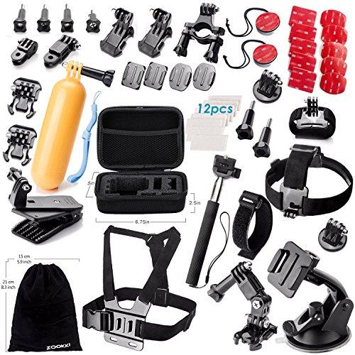 Zookki Zubehör Set für GoPro Hero Black Silver 5 4 3+ 3 2 1/ SJ4000 SJ5000 SJ6000, Aktion Kamera Zubehör Kit für Xiaomi Yi/Lightdow/WiMiUS/DBPOWER/Qumox