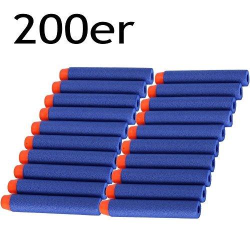 KYG 200 Stück Darts Nachfüll Gun Bullet Für NERF N-Strike Elite Blaster Clip Kinder Spielzeug Blau