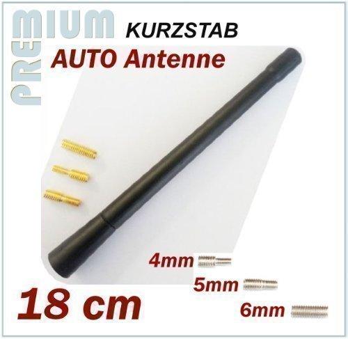 KFZ Antennenstab INION® Universal 18 cm Kurz Stab Antenne mit M4 M5 M6 *** CITROEN BERLINGO - C1 - C2 - C3 Picasso - C4 - C5 - C6 - JUMPER - SAXO - XANTIA - XSARA - Xsara Picasso ----- UKW - FM - Kurzstab Dachantenne