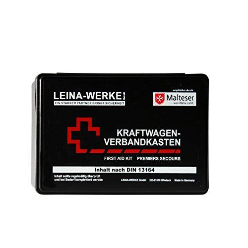 Leina-Werke 10007 KFZ-Verbandkasten Standard, Schwarz/Weiß/Rot