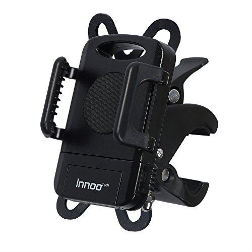 InnooTech Fahrrad Handyhalterung Handyhalter Fahrrad Verstellbar Motorrad Halter für Smartphone, iPhone 7 Plus / 7 / 6 / 5s / 5 / 4, Samsung Galaxy S5/S4/S3, GPS usw.