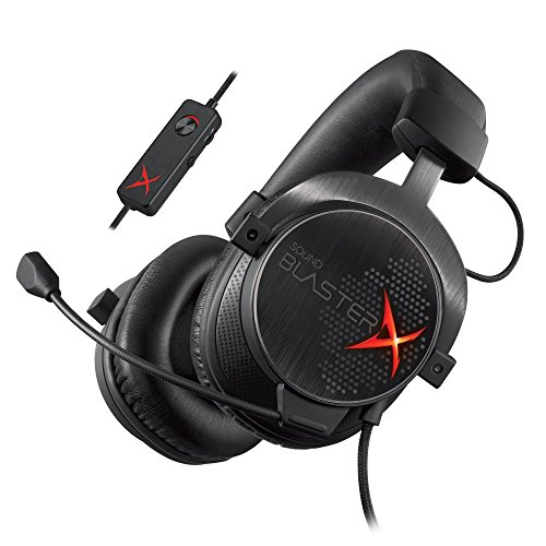 Creative Sound BlasterX H7 Gaming Headset (7.1 Surround Pro, geeignet für PS4 und xBox One) schwarz