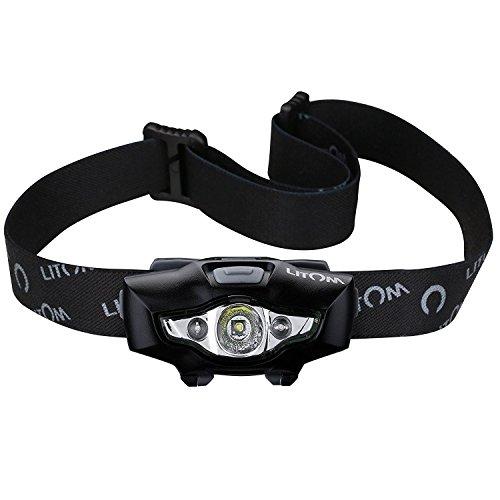 Litom Kopflampe, Stirnlampe, led lenser stirnlampe, rotlicht stirnlampe camping Taschenlampe wasserdicht