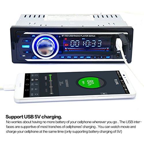 12V Autoradio FM Radio MP3 Audio Player Unterstützt Bluetooth und Telefon mit USB / SD MMC Anschluss Kfz-Elektronik In-Dash 1 DIN