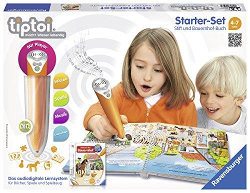 Ravensburger 00507 - tiptoi Starter-Set mit Stift und Buch Wieso? Weshalb? Warum? Entdecke den Bauernhof