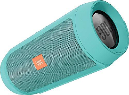 JBL Charge 2+ Tragbarer Spritzwasserfester Wireless Bluetooth Stereo-Lautsprecher mit Aufladbarer Batterie, Integrierter Freisprecheinrichtung, 3,5 Stereoeingang und Social-Modus Funktion - Extrem kraftvoller Sound und Bass - Kompatibel mit Apple iOS und