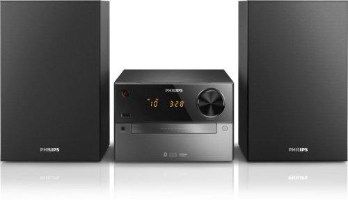 Philips BTM2310 Kompaktanlage mit Bluetooth (15 Watt, BassReflex, USB, UKW, CD-MP3) schwarz