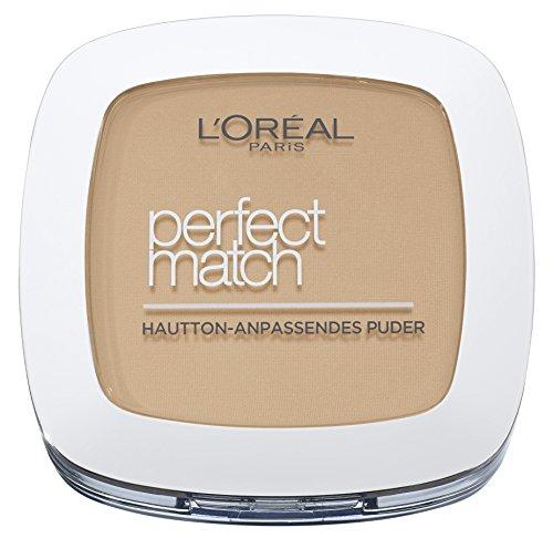 L'Oréal Paris Perfect Match Compact Puder, N4 Golden Beige, 1 x 9 ml