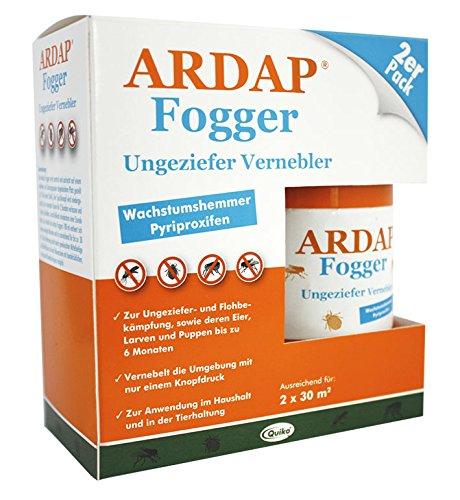 Quiko 077498 Ardap Fogger - Ungeziefer Vernebler für 2 Räume bis 30 m², 2 x 100 ml