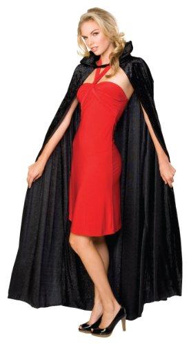 Rubie 's Offizielles Halloween lange Crushed Samt Umhang, Erwachsenen Kostüm-EINE Größe