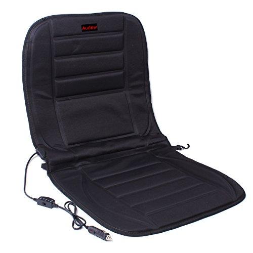 AUDEW Neu Auto Sitzbezüge Sitzheizung Sitzauflage Heizkissen 49cm x 42cm x 50cm Schwarz