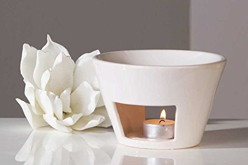 Duftlampe Aromabrenner Shape aus Keramik · weiß Höhe 10 cm · Ø 15 cm