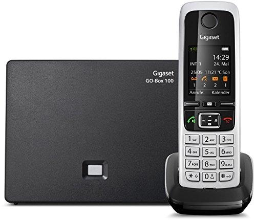 Gigaset C430A GO Hybrid-Dect-Schnurlostelefon (analog und VoIP (ALL-IP),mit Anrufbeantworter) schwarz