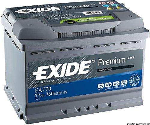 Exide Premium Carbon Boost EA770 77Ah Autobatterie (Neuestes Modell 2014/15)