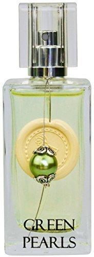 Greendoor Eau de Parfum (EdP) Green Pearls, Bio Parfüm Spray mit Vaporisateur 50ml, von Hand mit einer Perle & Siegellack dekoriert, Damenduft auch als beliebtes Geschenk Weihnachten Geschenke, Weihnachtsgeschenke, Naturkosmetik