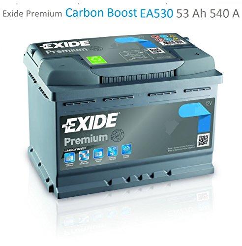 Exide Premium Carbon Boost EA530 53Ah Autobatterie (Neuestes Modell 2014/15)