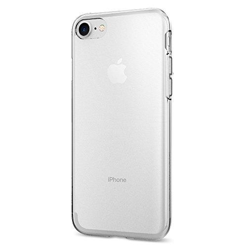 iPhone 7 Hülle, Spigen® [Liquid Crystal] Ultra Dünn [Crystal Clear] Transparent Soft-Flex Handyhülle / Bumper-Style Premium-TPU Silikon / Perfekte Passform / Durchsichtige Schutzhülle für Apple iPhone 7 Case, Apple iPhone 7 Cover - Crystal Clear (042CS204