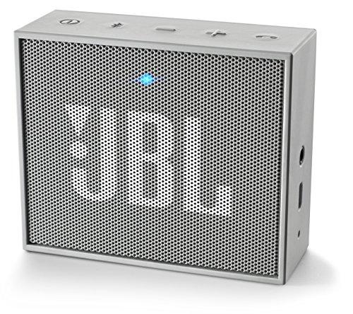 JBL Go Ultra Wireless Bluetooth Lautsprecher (3,5mm AUX-Eingang, geeignet für Apple iOS und Android Smartphones, Tablets und MP3 geräten) grau