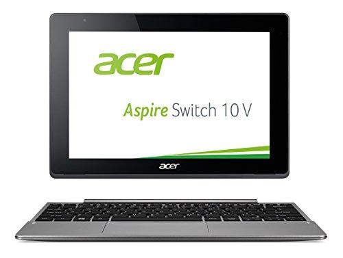 Acer Aspire Switch 10 V (SW5-014) 25,7 cm (10,1 Zoll Full HD IPS) Convertible Notebook (Intel Atom X5-Z8300, 2GB RAM, 32GB eMMC, Intel HD Graphics, Win 10 Home) schwarz