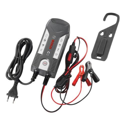 Bosch 018999903M Mikroprozessor-Batterieladegerät C3, für 6 V und 12 V, mit Erhaltungsladung und Memoryfunktion