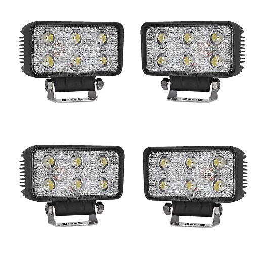 SAILUN 18W * 4 Arbeitsleuchte LED Light Bar Offroad Zusatz Scheinwerfer Auto Beleuchtung Arbeitsscheinwerfer Wasserdicht IP67 für Jeep PKW 4WD SUV ATV