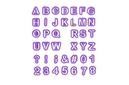 Fondant Ausstecher Buchstaben, eLander Alphabet Ausstecher / Ausstechformen für Fondant [40 Teile] - mit Zahlen, Zeichensetzung und Buchstaben - Cake Backzubehör Kuchendekoration Ausstechformen Backform Utensilien Modellierwerkzeug