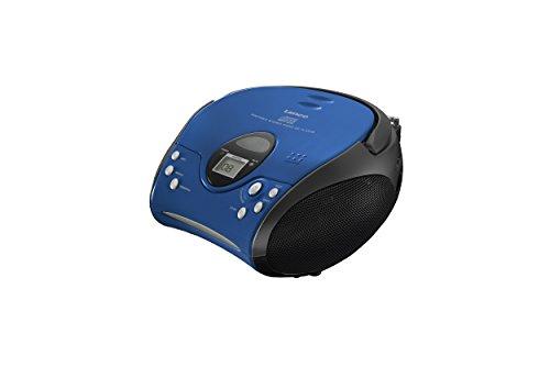 Lenco SCD-24 Stereo UKW-Radio mit CD-Player und Teleskopantenne blau/schwarz