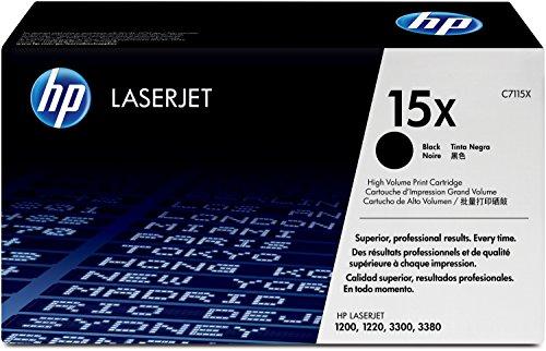 HP 15X (C7115X) Schwarz Original Toner mit hoher Reichweite für HP Laserjet 1000, 1200, 1220, 3330