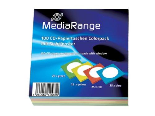 MEDIARANGE CD-paper color-pack - CD-Hülle - 1 CD (Packung mit 100 ), BOX67