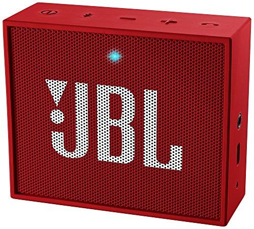 JBL Go Ultra Wireless Bluetooth Lautsprecher (3,5mm AUX-Eingang, geeignet für Apple iOS und Android Smartphones, Tablets und MP3 geräten) rot