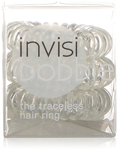 Invisibobble Traceless Haargummi und Armband, Crystal Clear, 1er Pack (1 x 3 Stück)